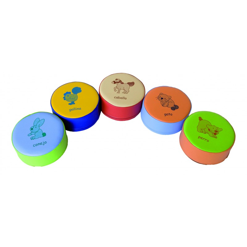 PUF ANIMALES MEDIANO (PACK 5 UDS.)