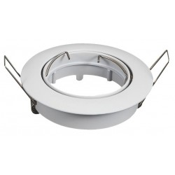 Aro blanco orientable circular para dicroica LED GU10 - MR16